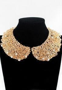 Rhinestone Crystal Bib Bead Collar Necklace