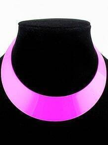 Pink Light Colors Collar Necklace