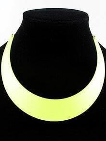 Yellow Light Colors Collar Necklace