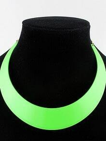 Green Light Colors Collar Necklace