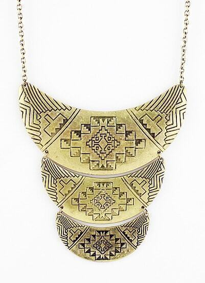 Gold Vintage Multilayer Collar Necklace
