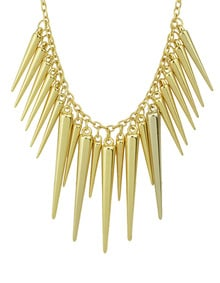 Exaggerate Gold Plated Spike Necklace