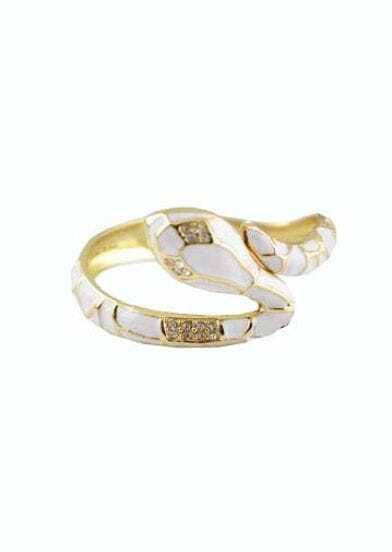 Vintage Star Favorite Elegant White Snake Bracelet