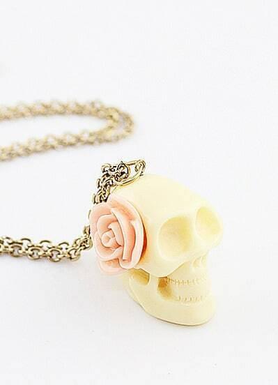 Individual Vintage Skull Necklace