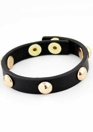 New Products Leather And Punk Male Bracelet