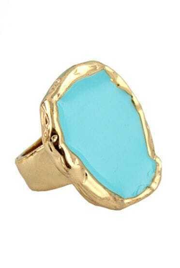 Fashion Enamel Blue Alloy Ring