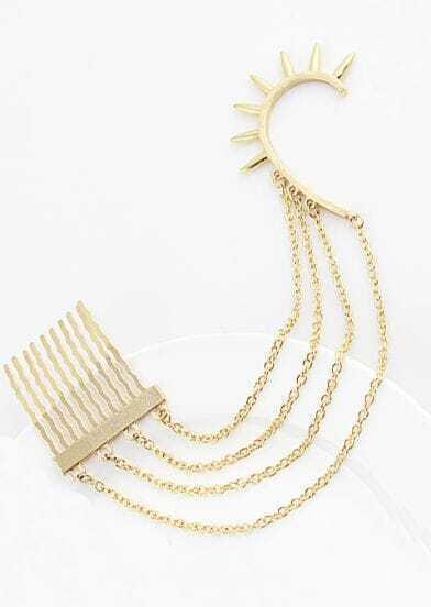 Gold Rivet Clip On Earring