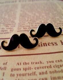 Lovely Mustache Design Alloy Earring