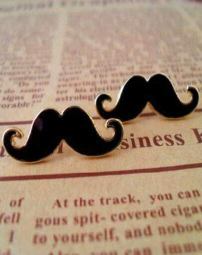 Lovely Mustache Design Alloy Earring