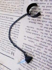 Fashionable Individual Black Chain Ear Clip