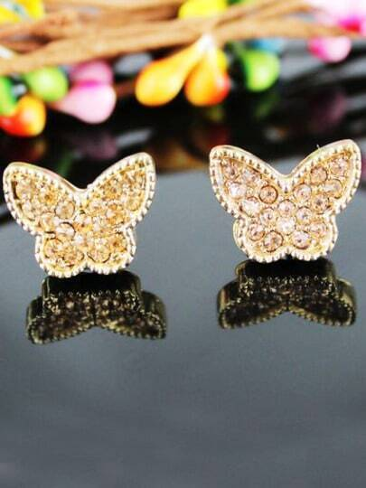 New Style Jewelry Butterfly Crystal Earring