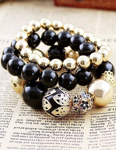 Vintage Vogue Graceful Bead Stretch Bracelet