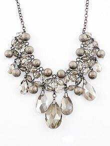 Shining Rhinestone Bubbles Collar Necklace