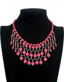 New Vogue Jewelry Red Bead Necklace