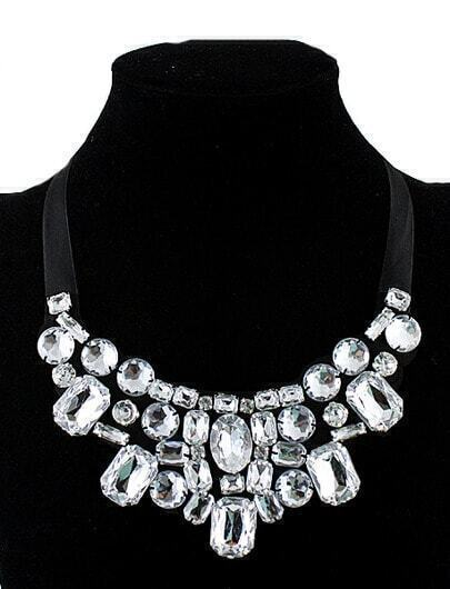 Costume Jewelry Shining Crystal Collar Necklace