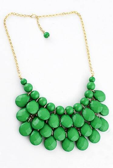 Charming Style Shine Green Beads Necklace