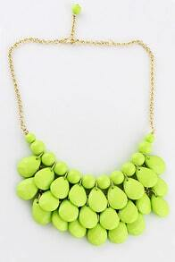 Charming Style Shine Light Green Beads Necklace