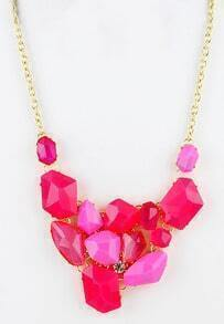 Red Western Women Jewelry Chain Acrylic Necklace
