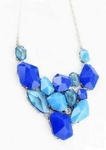Blue Western Women Jewelry Chain Acrylic Necklace