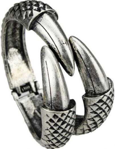 Fashion Paw Retro Silver Claw Bracelet
