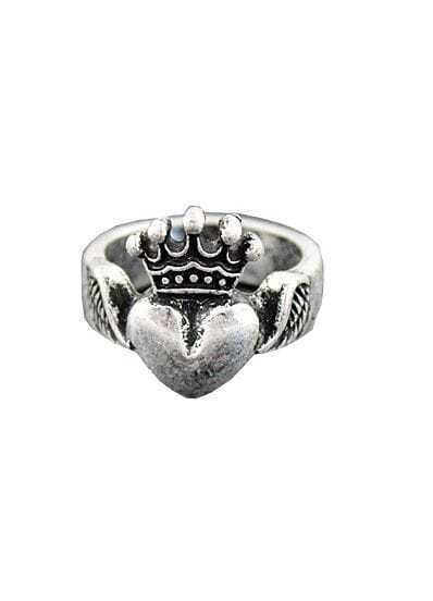 Heart Shaped Ring Designs And Crown Ring