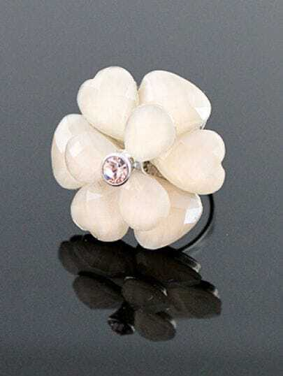New Style Rhinestone Flower Wedding Ring
