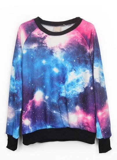Pull-over imprimé galaxie