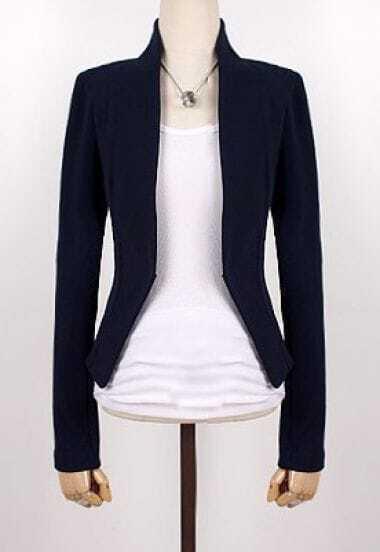 Black Long Sleeve Alice Shoulder Crop Suit