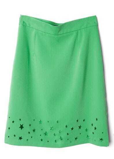 Green Stars Hollow Skirt