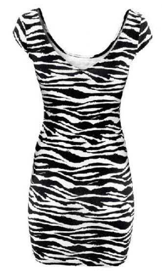 Black and white zebra print dress