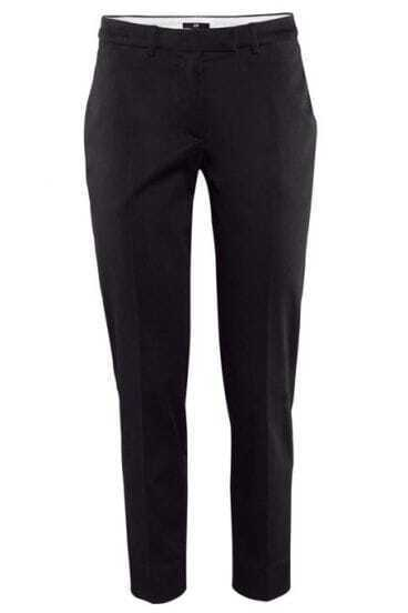 Black Slim Side Pockets Pant