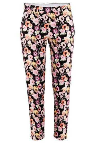 Floral Slim Side Pockets Pant