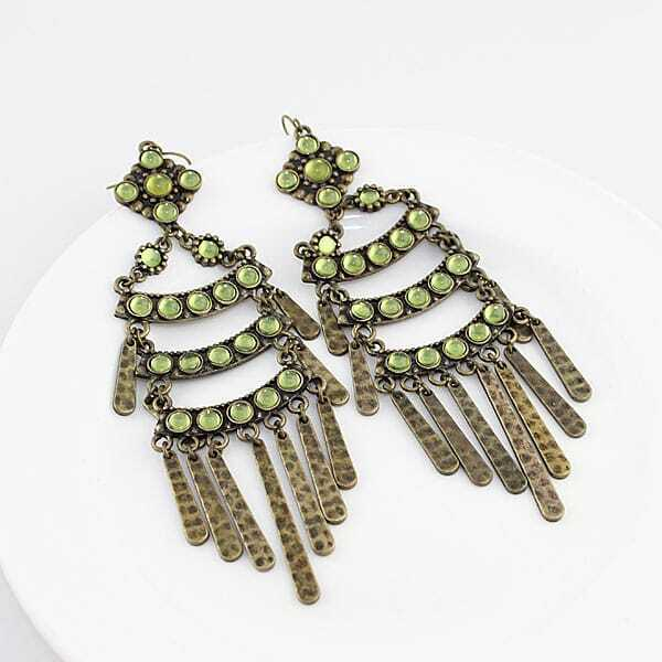 Crazy Promotion Vintage Enchanting Tassel Earring -SheIn ...