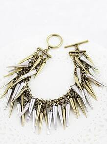 Retro Gold Spike Link Bracelet
