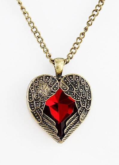 Gold Hollow Out Heart Necklace