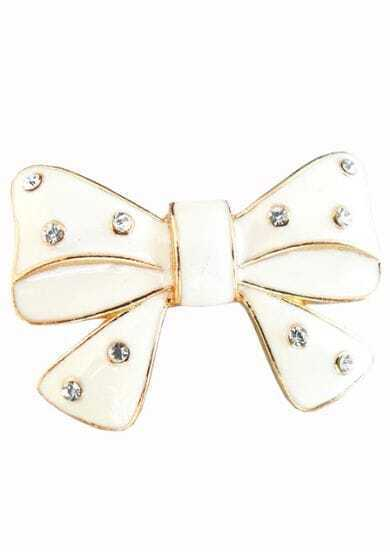 White Crystal Bow Ring