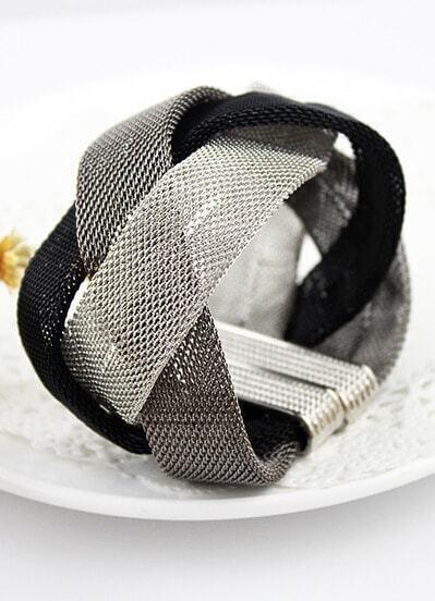 Black White Grey Winding Bracelet