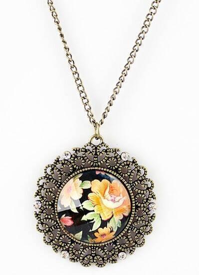 New Arrival Vintage Unique Elegant Flower Necklace