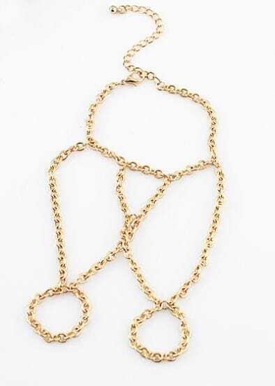 Popular Gold Chain Bracelet Connected Rings