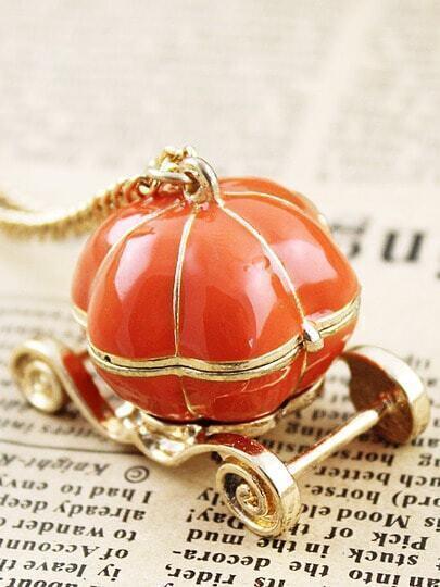 Orange Lovely Pumpkin Car Necklace
