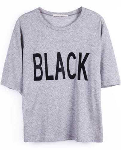 Camiseta print-Gris