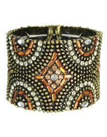 Vintage Gold Crystal Bead Bracelet