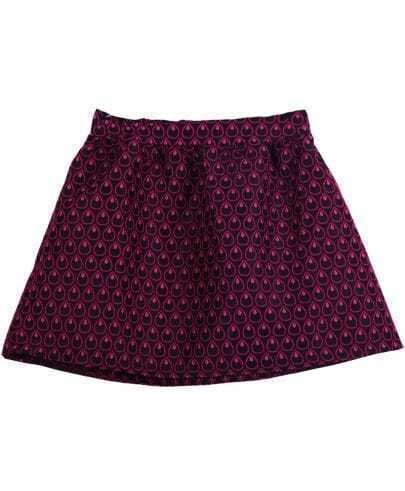 Red Elastic Waist Heart Polka Dot Skirt