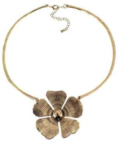 Gold Flower Collar Necklace