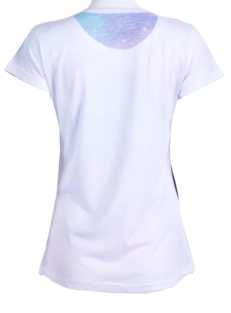 Purple round neck short sleeve galaxy t shirt shein for Galaxy white t shirts wholesale