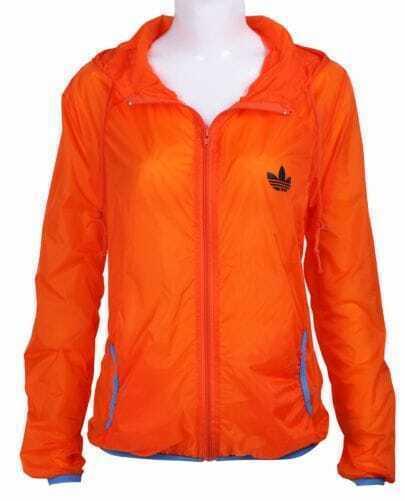 Orange Long Sleeve Hoodie Rain-Proof Sheer Jacket