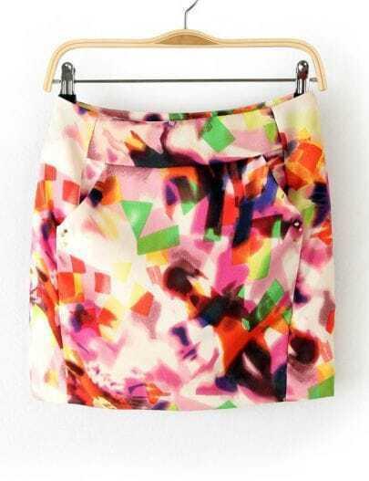 Multi Zipper Rivet Bodycon Skirt