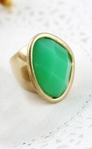 Green Gemstone Gold Ring