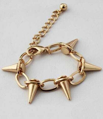Gold Rivet Link Bracelet