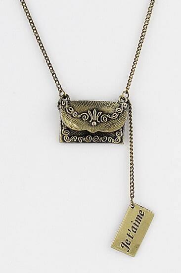 Retro Gold Bag Chain Necklace